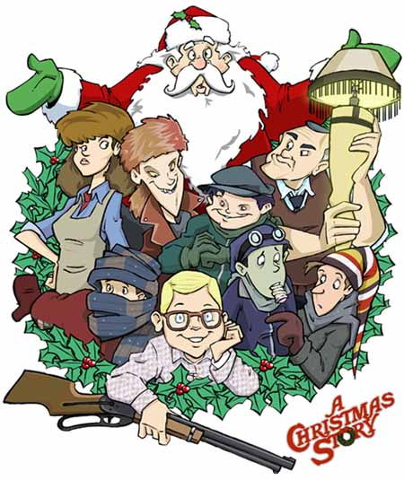 A Christmas Story Cartoon by Dapper Dan