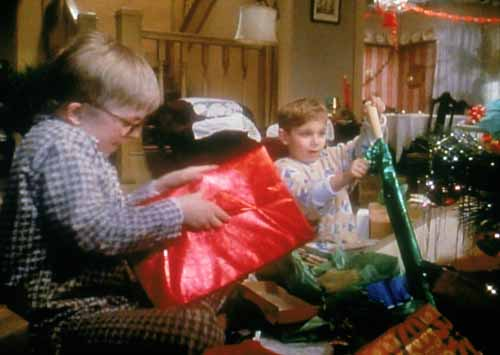 Ralphie and Randy Christmas Morning Leg Lamp A Christmas Story