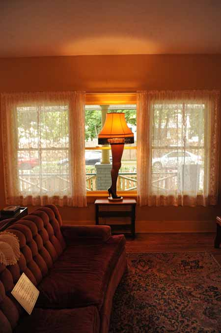 the leg lamp a christmas story house