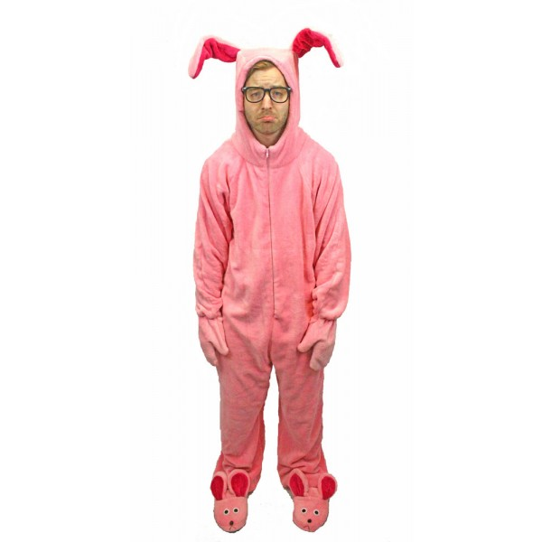 Bunny Suit A Christmas Story - Pink Bunny Suits Pajamas A Christmas Story House