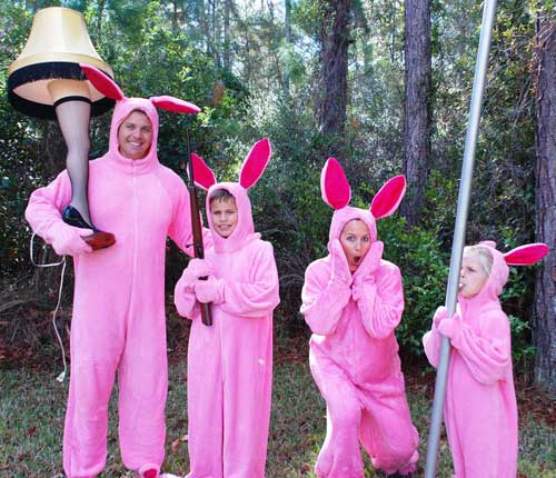 Ralphie's Pink Nightmare Bunny Suit Pajamas from Aunt Clara A Christmas Story