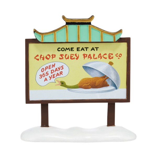 Dept 56 Chop Suey Palace billboard