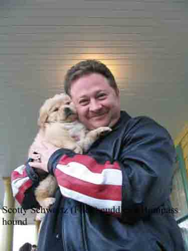 Scott Schwartz with Puppy