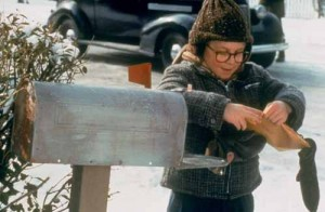 Ralphie at Mailbox A Christmas Story