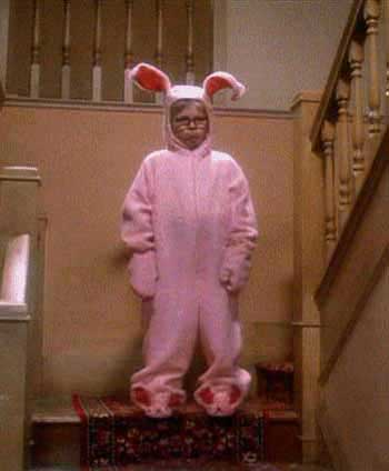 A Christmas Story Bunny Suit.Pink Bunny Suits Pajamas A Christmas Story House