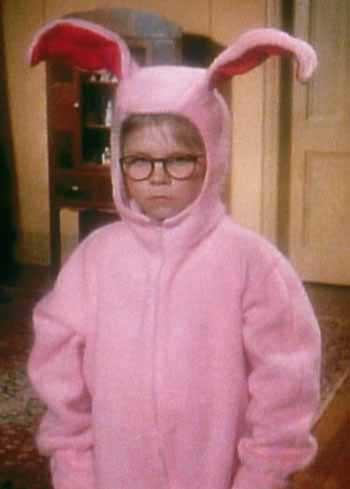 Christmas Story Bunny Pajamas.Pink Bunny Suits Pajamas A Christmas Story House