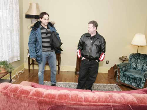 Ian Petrella and Scott Schwartz in A Christmas Story House